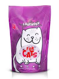 Силикагелевый <b>наполнитель For Cats</b> с ароматом лаванды, 4л ...