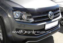 <b>Дефлектор капота</b> Volkswagen Amarok 2010- <b>темный</b>, <b>EGR</b> ...