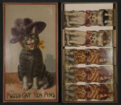 Floor game:The <b>Pussy Cat</b> Ten Pins - McLoughlin Brothers ...