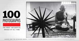 Gandhi and the Spinning Wheel | 100 Photographs | The Most ...