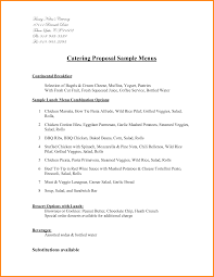 catering proposal letter resume cipanewsletter catering business proposal styles of essay
