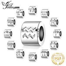 <b>JewelryPalace 925</b> Sterling Silver Engraved Star <b>Zodiac</b> Sign Bead ...