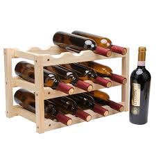 Wooden Red Wine Rack <b>10/12 Bottle Holder Mount</b> Bar Display ...