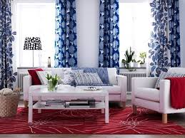 decor red blue room full: the latest colour combination for living room summer season