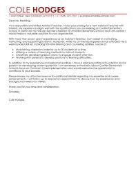 leading education cover letter examples resources assistant teacher