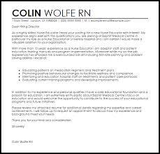 example cover letter for teaching sample cover letter for part       letter of