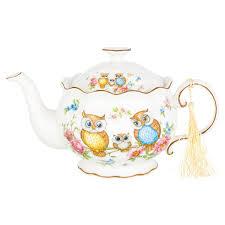 <b>Заварочный чайник ELAN</b> GALLERY Совушки 420247, 0.7 л в ...