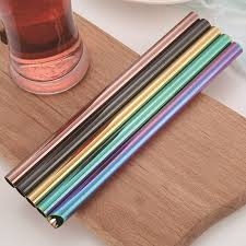 Colorful 304 Stainless <b>Steel</b> Straws Reusable <b>Drinking</b> Straw High ...