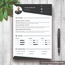 creative resume templates professional cv templates modern resume template photo white background stanley bryant