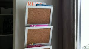 magazine rack wall mount: wall mounted message center a wall mounted magazine rack