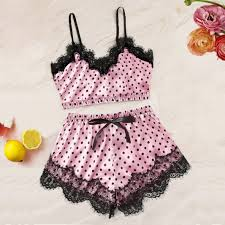 2019 <b>Women</b> Pajamas <b>Sexy</b> Lingerie Nightwear Sets Lady Satin ...