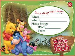 th birthday ideas winnie the pooh birthday invitation templates disney winnie the pooh slumber party invitation