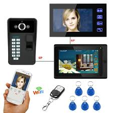 yobangsecurity 12 unit apartment intercom wired 7 inch color hd video phone doorbell access system monitor 1 camera