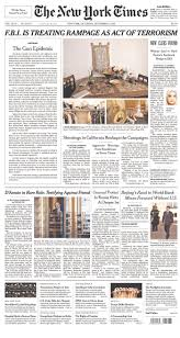 new york times calls for gun control in first front page editorial the editorial criticizes the gun debate in america that tenaciously parses the wording of the second amendment the right to bear arms and politicians who