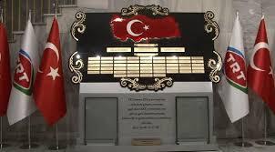 TRT Radyo Binası'nda Şehitler Köşesi