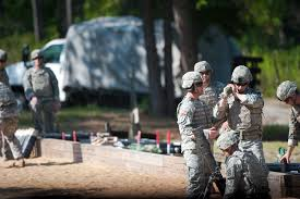 u s department of defense photo essay army officers prepare to fire an 81 mm mortar round during a live fire