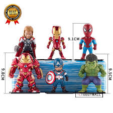 <b>6pcs</b>/<b>set Avengers</b> Model <b>Toy Iron</b> Man Action Figure | Shopee ...