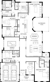 floor plans: australis single storey home design master floor plan wa