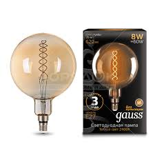 <b>Лампа</b> светодиодная <b>Gauss</b> Led <b>Vintage Filament</b> Flexible G200 ...