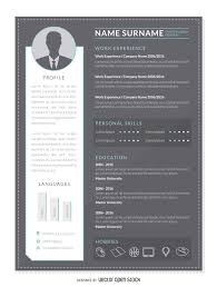 graphic designer resume cv vector hipster curriculum mockup template