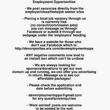 employment opportunities devonport tas home facebook image contain text