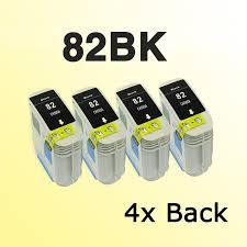 4x for <b>82 black</b> ink cartridge <b>for82 82BK</b> for <b>Designjet</b> 10ps/120nr ...