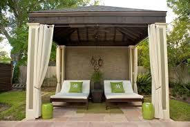 cabana ideas outdoor curtains black white