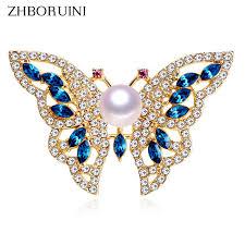 <b>ZHBORUINI</b> 2019 <b>New Natural</b> Freshwater Pearl Brooch Pearl ...