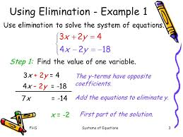 Using Elimination To Solve Systems Of Equations - Tessshebaylo
