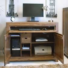 baumhaus mayan walnut hidden home office hideaway baumhaus hidden home office 2 door cabinet