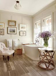 spa bathroom wood floor tiles chaise lounge wall pnelling ideas better decorating bible blog straw basket blog spa bathroom
