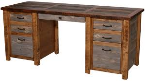 awesome natural barnwood executive desk home design decor ideas cozy reclaimed wood awesome custom reclaimed wood office desk