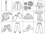 Раскраски зимняя одежда для детей