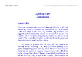 Autobiographical essay assignment Location Voiture Espagne