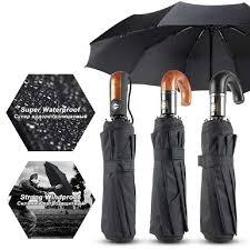 120CM Automatic <b>Men Umbrella Folding Wind</b> Resistant Business ...