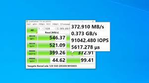 <b>Seagate BarraCuda 120</b> SSD <b>ZA500CM10003</b> - CrystalDiskMark Test