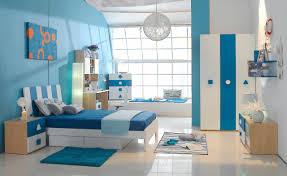 blue and white color kids children bedroom furniture designs