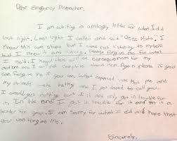 prank call a sixth grader s handwritten apology com