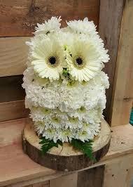 <b>Owl</b> made out of <b>flowers</b>.   Fall <b>flower</b> arrangements, Fresh <b>flowers</b> ...