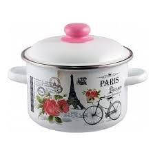 <b>Кастрюля эмалированная</b> Appetite <b>4.0</b> л Париж (1RD201M ...