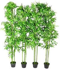 vidaXL <b>Set of 4 Bamboo</b> Plant Artificial Green Home Decor 190 cm ...
