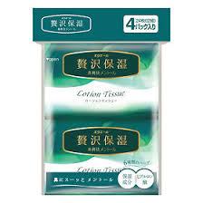 <b>Elleair Салфетки</b> бумажные <b>Lotion Tissue</b> Mentol (платочки), 4 уп ...