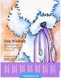 20+Best premium dog walking flyers templates Download Dog Walker Poodle Purple