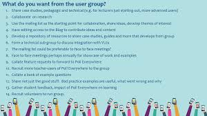 user group meeting feb poll everywhere user group share case studies pedagogic and technical e g for lecturers just starting out more