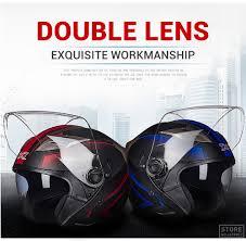 <b>GXT Motorcycle Helmet</b> Open Face Dual Lens Visors <b>Moto Helmet</b> ...
