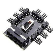 <b>1 to 8 3Pin</b> Fan Hub PWM SATA Molex Splitter PC Mining Cable ...