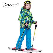 Detector <b>Boys</b> Ski Sets Winter Waterproof Windproof <b>Kids Ski Jacket</b> ...