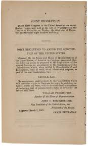 a proposed thirteenth amendment to prevent secession 1861 the a proposed thirteenth amendment to prevent secession 1861
