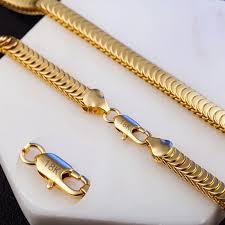 Modyle <b>2019 New Fashion</b> Cool Punk 8mm Gold Snake Link Chain ...