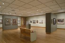 the museum tested a variety of bulbs and fixtures eventually ordering ges led modules installed in journe lightings zinnia 1000i track lights art gallery track lighting